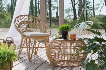 Un salon de jardin en rotin pour une ambiance très nature