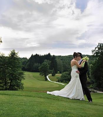 Céline et Mathieu, l'amour sur le green