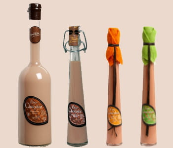 la 'fleur de chocolat' est également disponible à la menthe ou à l'orange.