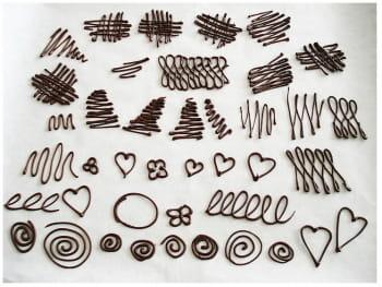 ecriture et dessins en chocolat journal des femmes. Black Bedroom Furniture Sets. Home Design Ideas