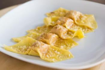 Tortelli au potiron, parmesan, mostarda et amaretti