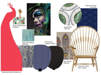 le motif paon en d co journal des femmes. Black Bedroom Furniture Sets. Home Design Ideas