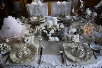 Table de no l shabby journal des femmes - Decoration de table de noel argent ...