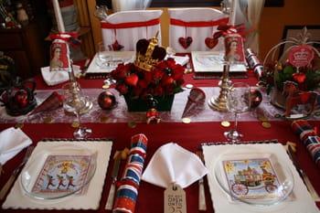 Une table de no l royale journal des femmes - Decoration en anglais ...