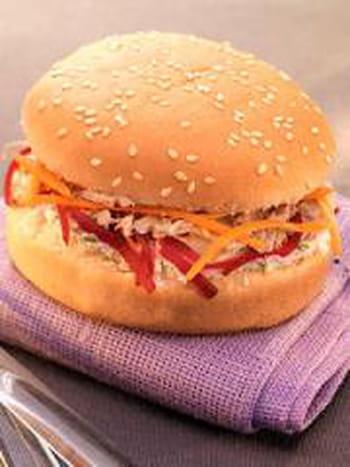 Hamburger au thon et au ch vre frais 35 recettes pour - Cuisiner du thon en boite ...