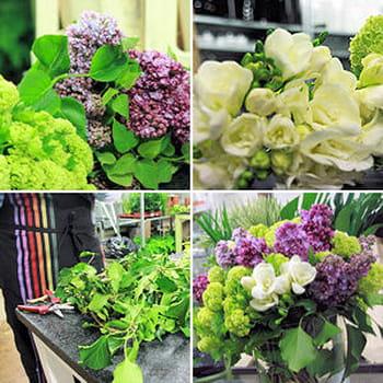 Réaliser un bouquet de lilas et de freesia
