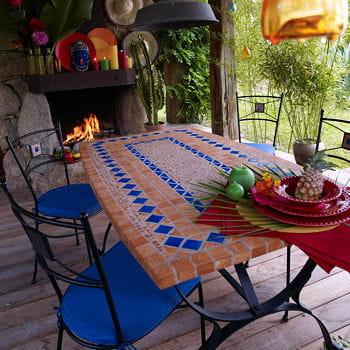 La gaiet de la mosa que mobilier et salon de jardin for Salon de jardin mosaique