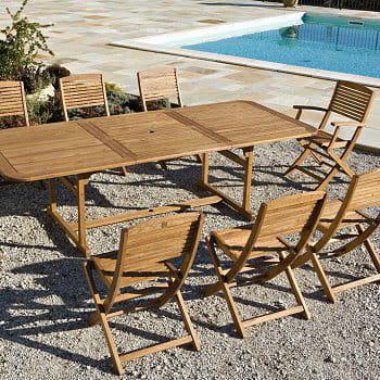 Grande table des salons de jardin pour profiter des - Table pliante auchan ...