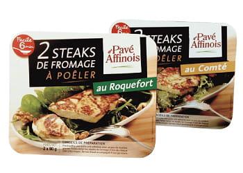 steak de fromage pavé d'affinois.