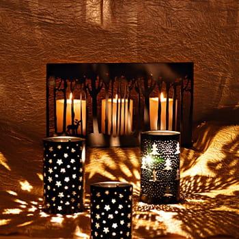 Un d cor lumineux et mouvant pour la table de jardin - Grand photophore jardin ...