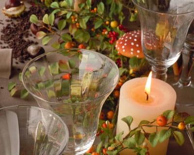 des bougies pour r chauffer l 39 ambiance ma table aux couleurs de l 39 automne journal des femmes. Black Bedroom Furniture Sets. Home Design Ideas