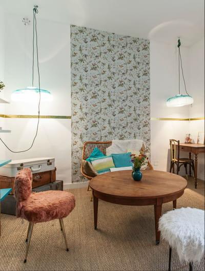 un habillage mural relooker son salon avec moins de 50. Black Bedroom Furniture Sets. Home Design Ideas