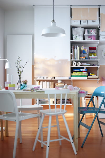 suspension ranarp blanc cass d 39 ikea quelle suspension au dessus de la table manger. Black Bedroom Furniture Sets. Home Design Ideas