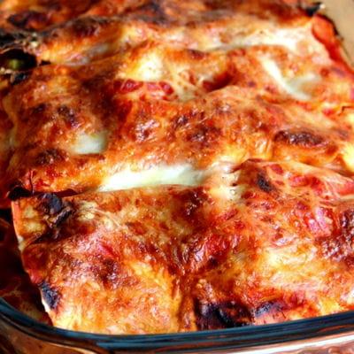 lasagnes au poulet fa on basquaise 30 recettes pour famille nombreuse journal des femmes. Black Bedroom Furniture Sets. Home Design Ideas