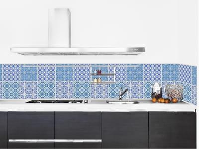 papier peint adh sif azulejos bleu de la boutique du grand cirque. Black Bedroom Furniture Sets. Home Design Ideas