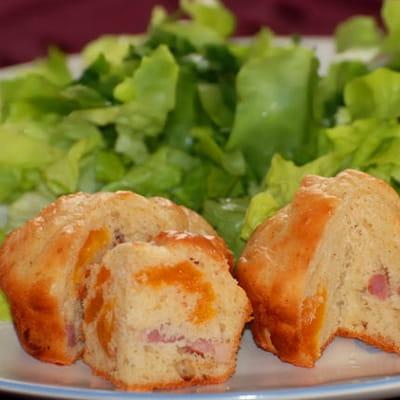 muffins aux abricots secs et aux lardons