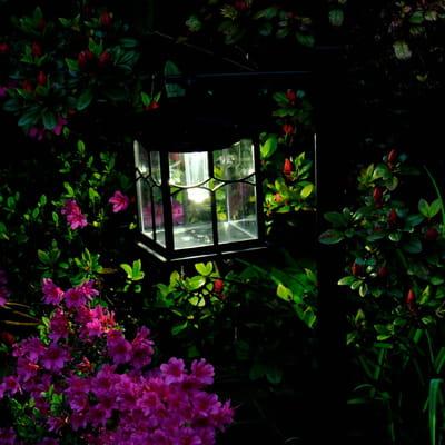 lanterne solaire de galix chez clairer son jardin avec style journal des femmes. Black Bedroom Furniture Sets. Home Design Ideas
