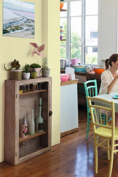 Peinture jaune pop corn happy luxens de leroy merlin - Peinture naturelle leroy merlin ...