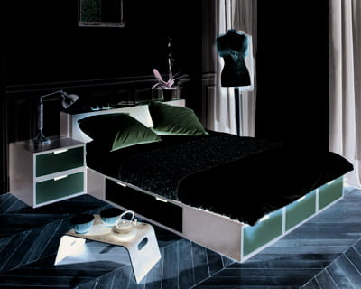 lit podium brick d 39 espace loggia des chambres pour tous. Black Bedroom Furniture Sets. Home Design Ideas