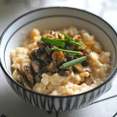 Risotto au camembert de normandie et champignons de paris 25 recettes v g tariennes pour no l - Risotto noel ...