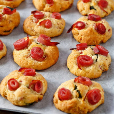 55 recettes de muffins et cookies ap ritifs cookies sal s au jambon basilic parmesan. Black Bedroom Furniture Sets. Home Design Ideas