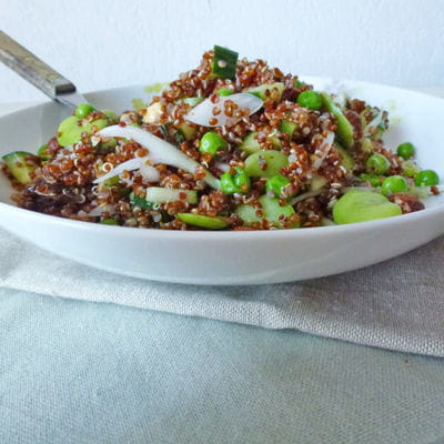 Salade de quinoa rouge aux f ves et petits pois frais - Cuisiner les petits pois frais ...