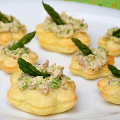 Feuillet s aux rillettes de thon moutarde et asperges - Cuisiner du thon en boite ...
