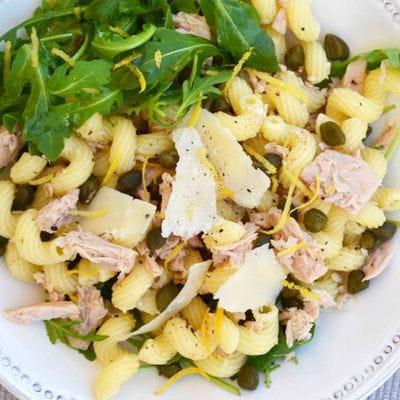 Salade de p tes au thon et au citron - Cuisiner du thon en boite ...