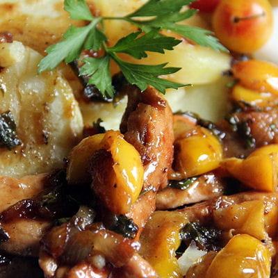 Aiguillettes de poulet aux mirabelles miel et curry - Recette avec des mirabelles ...