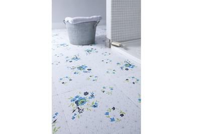 Dalles pvc blue rose d 39 around the wall for Dalles pvc adhesives pour salle de bain