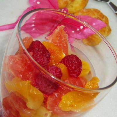 pomelos et abricots au tilleul