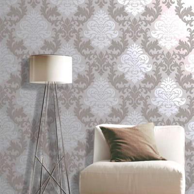 papier peint m daillon gris de racsh leroy merlin les nouveaux papiers peints tendance. Black Bedroom Furniture Sets. Home Design Ideas