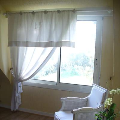 Mettre en avant un d tail brod que faire avec des draps - Faire des rideaux avec draps anciens ...