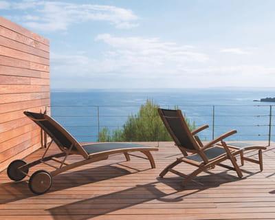 bain de soleil et chaise longue capri de maisons du monde cet t c 39 est relax sur mon transat. Black Bedroom Furniture Sets. Home Design Ideas