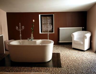 repeindre un pan de mur relooker sa salle de bains sans. Black Bedroom Furniture Sets. Home Design Ideas