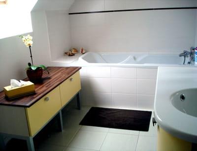 repeindre ses meubles relooker sa salle de bains sans se ruiner journal des femmes. Black Bedroom Furniture Sets. Home Design Ideas