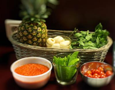 les ingrédients du magret au curry rouge