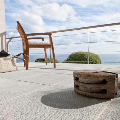 dalles touareg gris de leroy merlin terrasse 16. Black Bedroom Furniture Sets. Home Design Ideas