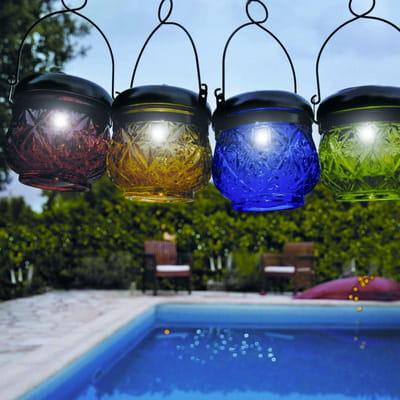 Lanterne solaire en verre de blachere illumination plein for Lanterne leroy merlin
