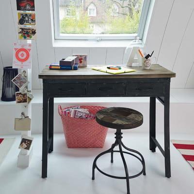 bureau jackson d 39 alin a un bureau m me dans un petit espace journal des femmes d coration. Black Bedroom Furniture Sets. Home Design Ideas