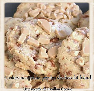 cookies nougatine et pépites de chocolat blond