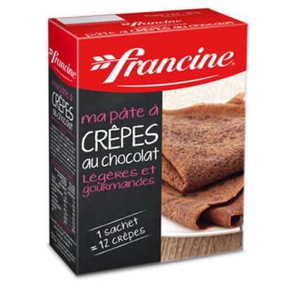 préparation pour crêpes au chocolat de francine
