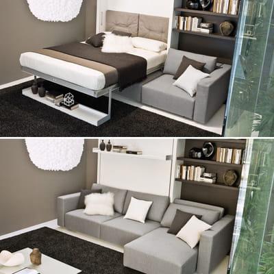 lit canap petit espace y 39 a de l 39 astuce dans ces. Black Bedroom Furniture Sets. Home Design Ideas