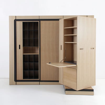 Meuble ultra modulable petit espace y 39 a de l 39 astuce for Meuble bureau petit espace