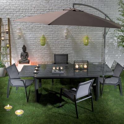 table dessus en verre de conforama 21 nuances de salons de jardin journal des femmes. Black Bedroom Furniture Sets. Home Design Ideas