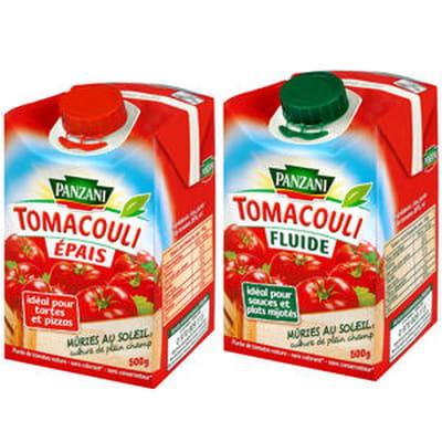 tomacouli épais et fluide de panzani