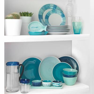 vaisselle nuanc e de bleus de maisons du monde arts de la table le grand bleu journal des. Black Bedroom Furniture Sets. Home Design Ideas