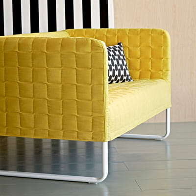 Canap jaune knopparp d 39 ikea le jaune illumine la d co journal des fe - Ikea canape deux places ...