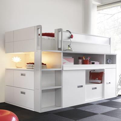 lit en mezzanine original des lits ing nieux pour gagner de la place journal des femmes. Black Bedroom Furniture Sets. Home Design Ideas