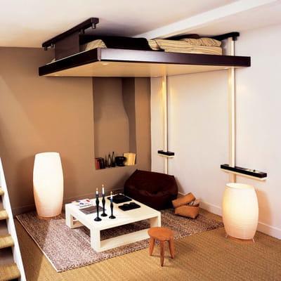 un lit mobile dans votre salon des lits ing nieux pour gagner de la place journal des femmes. Black Bedroom Furniture Sets. Home Design Ideas